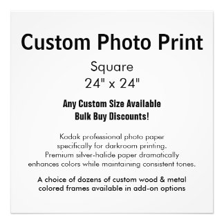 "Custom Photo Print - Square 24"" x 24"""