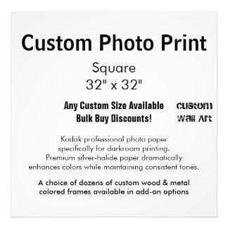 "Custom Photo Print - Square 32"" x 32"""