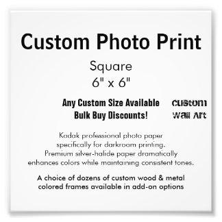"Custom Photo Print - Square  6"" x 6"""