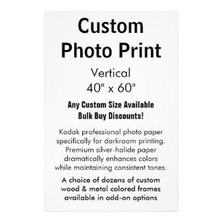 "Custom Photo Print - Vertical 40"" x 60"""