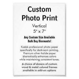 "Custom Photo Print - Vertical 5"" x 7"""