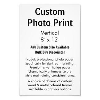 "Custom Photo Print - Vertical 8"" x 12"""