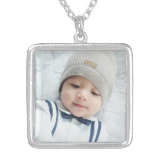 Custom Photo Silver Plated Necklace