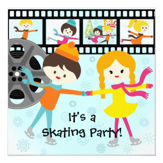 Custom Photo Skating Party Invitations