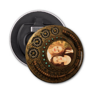 Custom Photo Steampunk Clock Time Metal Gears Bottle Opener