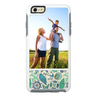 Custom Photo Teal Sea Animals Pattern OtterBox iPhone 6/6s Plus Case