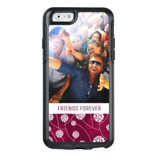 Custom Photo & Text Abstract floral pattern OtterBox iPhone 6/6s Case