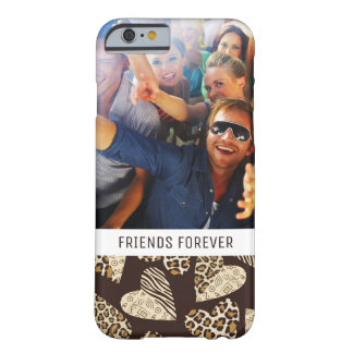 Custom Photo & Text Animal skin with hearts Barely There iPhone 6 Case