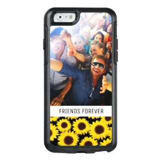 Custom Photo & Text Background with sunflowers OtterBox iPhone 6/6s Case