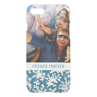 Custom Photo & Text Beautiful Coral Pattern iPhone 7 Case