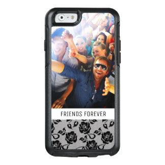 Custom Photo & Text Black lace pattern OtterBox iPhone 6/6s Case
