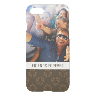 Custom Photo & Text Brown abstract pattern iPhone 7 Case