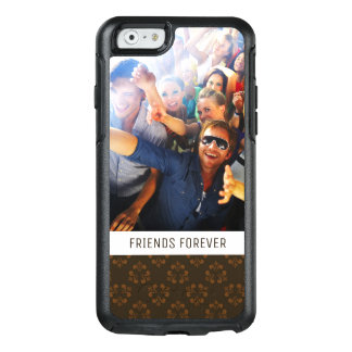 Custom Photo & Text Brown abstract pattern OtterBox iPhone 6/6s Case
