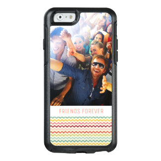 Custom Photo & Text Chevron Pattern 4 OtterBox iPhone 6/6s Case