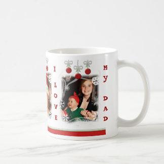 Custom Photo Text Christmas Dad Mom Mug