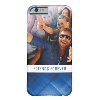 Custom Photo & Text Dark blue hi-tech background Barely There iPhone 6 Case