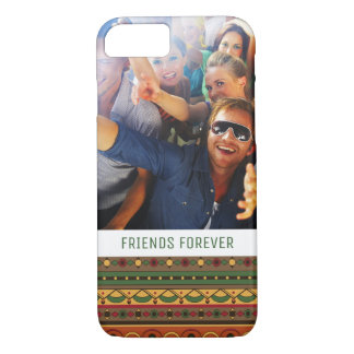 Custom Photo & Text Ethnic background iPhone 8/7 Case