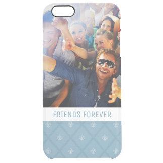 Custom Photo & Text Fleur-de-lis pattern Clear iPhone 6 Plus Case