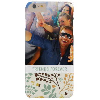 Custom Photo & Text Floral Butterfly Pattern Barely There iPhone 6 Plus Case