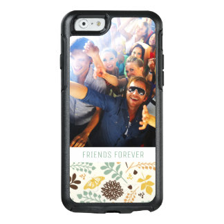 Custom Photo & Text Floral Butterfly Pattern OtterBox iPhone 6/6s Case