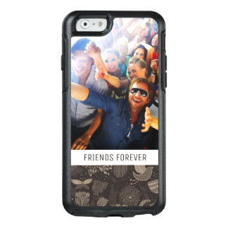 Custom Photo & Text Floral pattern with birds 2 OtterBox iPhone 6/6s Case
