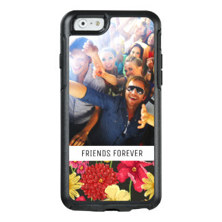 Custom Photo & Text Floral wallpaper watercolor OtterBox iPhone 6/6s Case