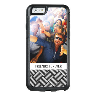 Custom Photo & Text Geometric checked texture OtterBox iPhone 6/6s Case