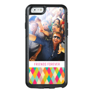 Custom Photo & Text Harlequin vintage pattern OtterBox iPhone 6/6s Case