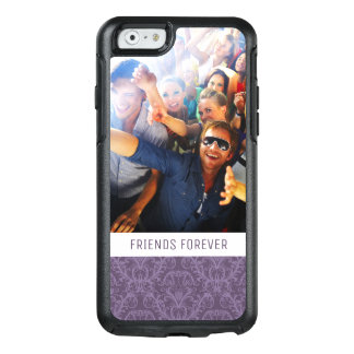 Custom Photo & Text Luxury Purple Wallpaper OtterBox iPhone 6/6s Case