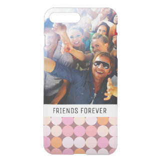 Custom Photo & Text Pink and Orange Polka Dots iPhone 7 Plus Case