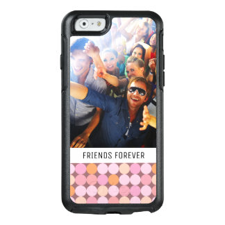 Custom Photo & Text Pink and Orange Polka Dots OtterBox iPhone 6/6s Case