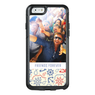 Custom Photo & Text Red and Navy with Anchor OtterBox iPhone 6/6s Case