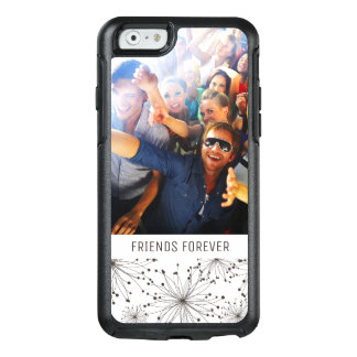 Custom Photo & Text Retro floral background OtterBox iPhone 6/6s Case