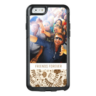 Custom Photo & Text Retro floral pattern OtterBox iPhone 6/6s Case