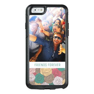 Custom Photo & Text Stylish floral pattern OtterBox iPhone 6/6s Case