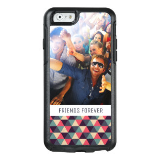 Custom Photo & Text Teal & Pink Triangle Pattern OtterBox iPhone 6/6s Case