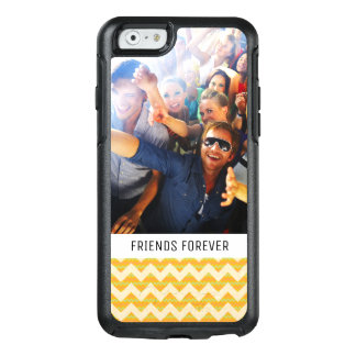 Custom Photo & Text Yellow chevron pattern OtterBox iPhone 6/6s Case