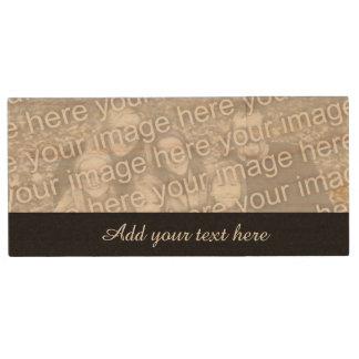 Custom photo USB flash drive | Add your image here Wood USB 2.0 Flash Drive