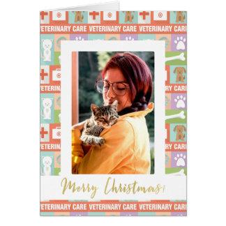 Custom Photo Veterinarian Merry Christmas Card