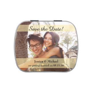 Custom Photo Wedding Save the Date Candy Tin