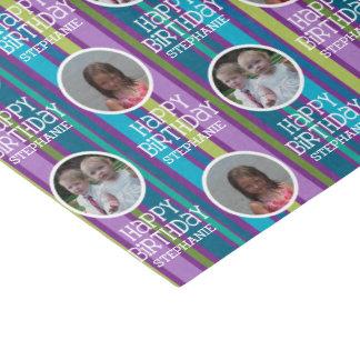Custom Photo Whimsical & Colourful Birthday Tissue Paper