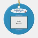 Custom Photo! Worlds Greatest Beagle Round Ceramic Decoration