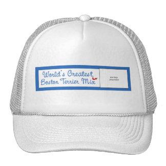 Custom Photo! Worlds Greatest Boston Terrier Mix Trucker Hat