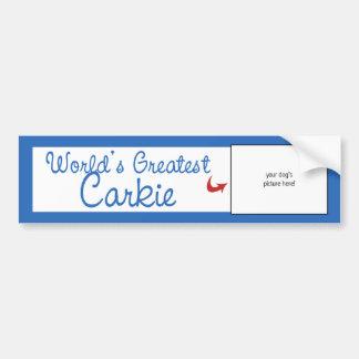 Custom Photo! Worlds Greatest Carkie Bumper Sticker