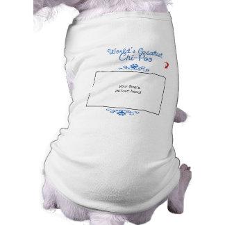 Custom Photo Worlds Greatest Chi-Poo Dog Tee Shirt