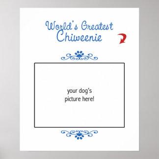 Custom Photo Worlds Greatest Chiweenie Print