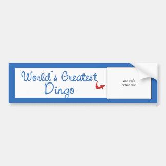 Custom Photo! Worlds Greatest Dingo Bumper Stickers