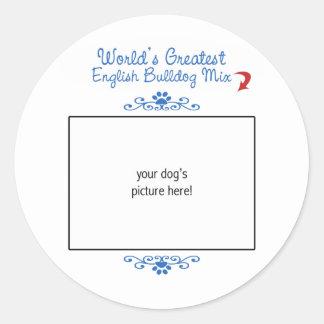 Custom Photo! Worlds Greatest English Bulldog Mix Sticker