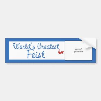 Custom Photo! Worlds Greatest Feist Bumper Sticker