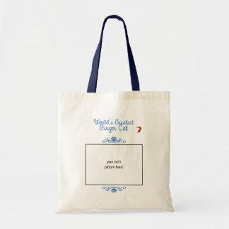 Custom Photo! Worlds Greatest Ginger Cat Budget Tote Bag